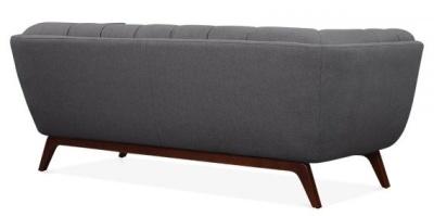 Oboe Three Seater Sofa In Dark Grey Trear View