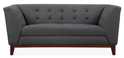 Eden Two Seat5er Sofa In Dark Grey Face View