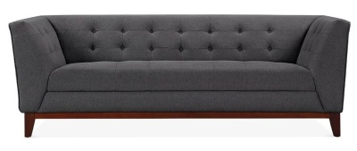 Eden Three Seater Sofa Fave View Dark Grey Fabric