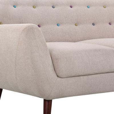 Emily Cream Sofa Fabric Detail