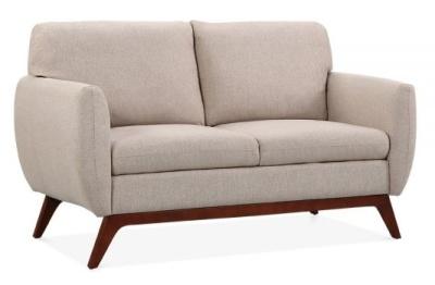 Toleta Designer Two Seater Sofa Cream Fabric Angle View