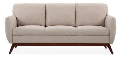 Toleta Three Seater Sofa In Cream Front View