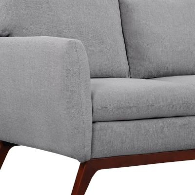 Toleta Smoke Grey Fabric Detail