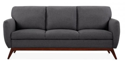 Toleta Three Seater Sofa In Dark Grey Front Shot