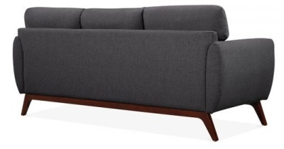 Toleta Three Seater Sofa Rear View Dark Grey