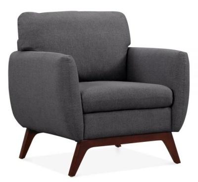 Toletra Armchair In Dark Grey Angle View
