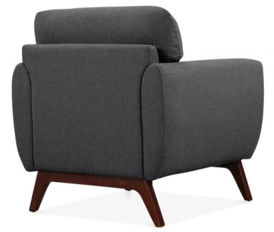 Toleta Armchair Rear View Dark Grey