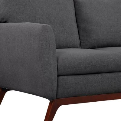 Toleta Dark Grey Fabric Detail