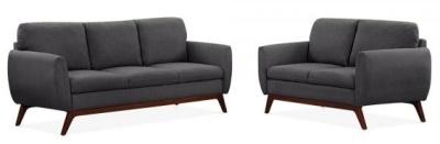 Toleta Sofa Set In Dark Grey