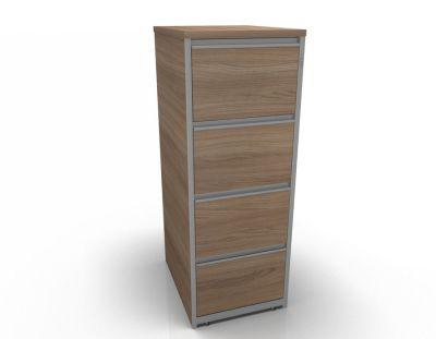Stellar Wooden Filing Cabinets - 4 Drawer Filing Cabinet In Birch