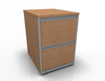 Stellar Wooden Filing Cabinets - 2 Drawer Filing Cabinet In Beech