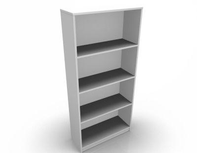 Stellar 3 Shelf Bookcase In White