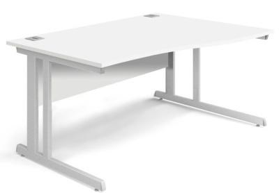 Trapido Right Hand Wave Desk In White
