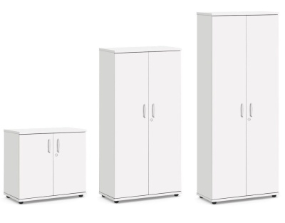 Trapido Wooden Cupboards In White