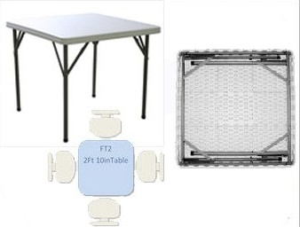 Compact Poly Square Folding Table 2