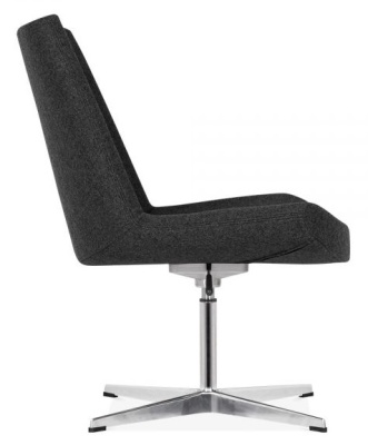 New Jersey Chair Black Fabric Side View