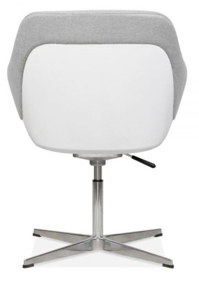 Mexico Tub Chair Cool Grey Rear View