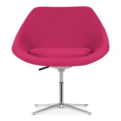 Maria Lounge Chair In Hot Pink Front Face