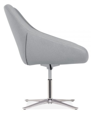 Maria Tub Chair In Cool Grey Side View