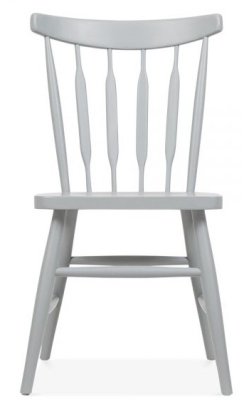 Eton Chair Grey Finish Front View