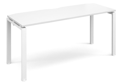 Exact 600mm Deep Bench Desk With A White Top And Whiote Frame