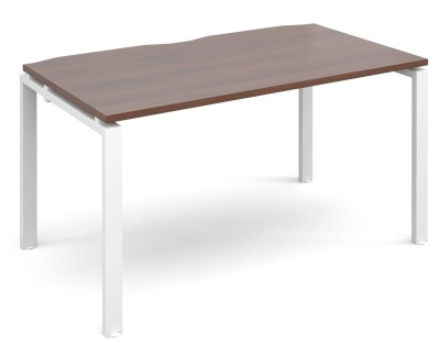 Exact Shellow Bench With A Wal;nut Top And White Frame