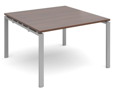 Exact Square Conference Table Walnut And Silver Frame