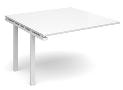 Exact Add On Table With A White Top And White Frame