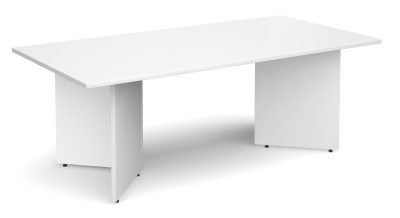 Dexter Rectangular Boardroom Table In White