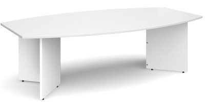 Dexter Boat Sheped Boardroom Table In White