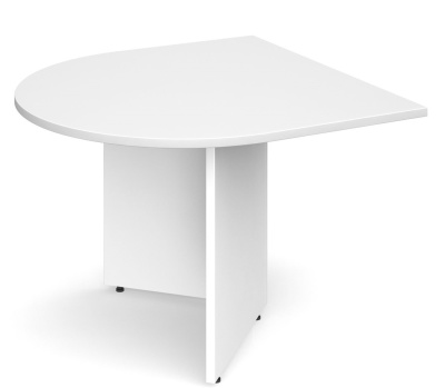 Dexter D End Extension Table In White