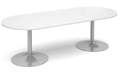 Tempest Oval Table With A White Top
