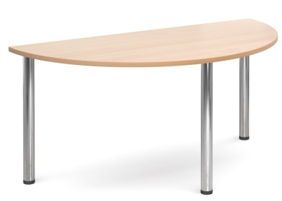 GM Deluxe Half Moon Table Beech Top
