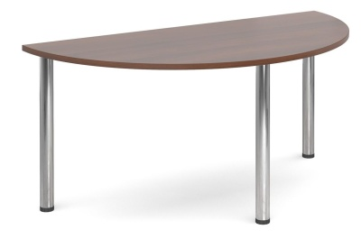 GM Deluxe Half Moon Tables In Walnut