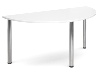 GM Deluxe Half Moon Tables White Top