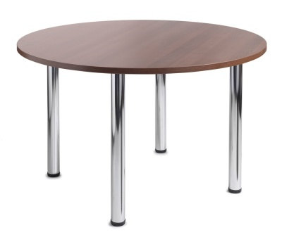 GM Circular Table With A Walnut Top