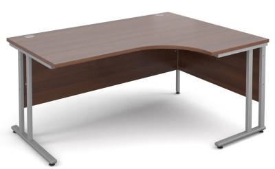 Momentum Next Day Right Hand Corner Desk With A Waklnut Top