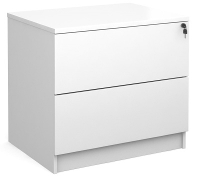Monentum Two Drawer Side Filer In White