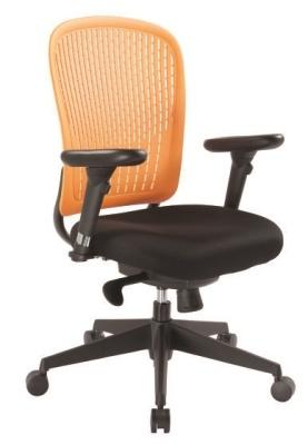 Elasto Flexible Chair Orange Back Angle View