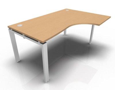 Right Hand Astro Desk- Beech- White