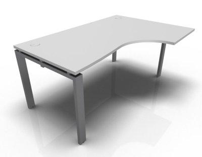 Right Hand Astro Desk- Light Grey- Aluminium