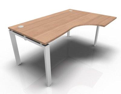 Right Hand Astro Desk- Merisier Naturel- White
