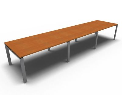 Astro Meeting Table- Cherrywood- Aluminium
