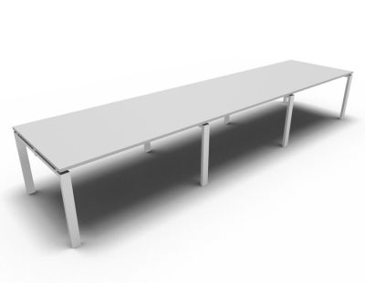 Astro Meeting Table- Light Grey- White