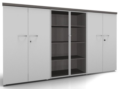 CO1 Storage Hinged Glass Doors Hinged Doors 1 White Cedar
