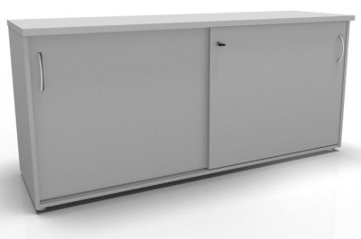 CO1 Storage Sliding Door Credenza Grey