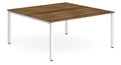 Expand Two Person Bench Desk With A Walnut Top