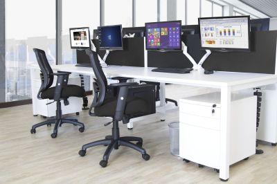 Expand White Bench Desks