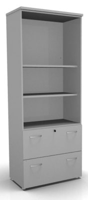 CO1Combination Filing Drawers Grey