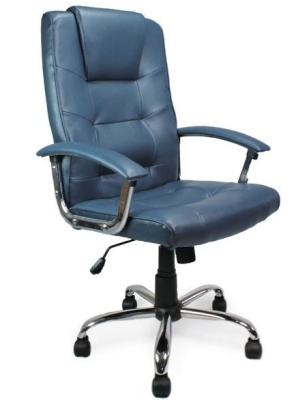 Raffles Leather Chairs Blue Leather